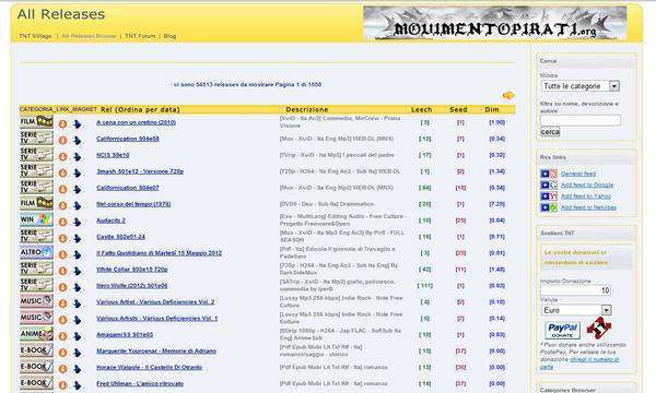 I migliori siti di torrent in italiano tissy tech for Siti dove comprare libri