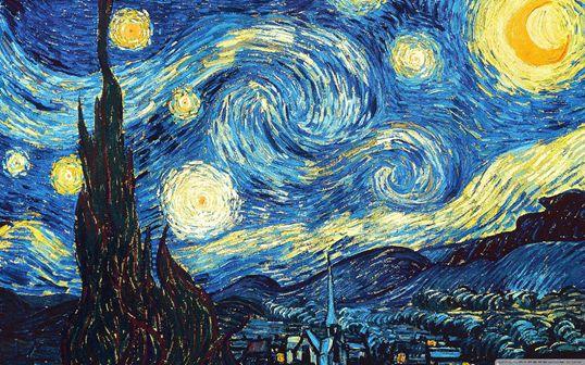 La notte stellata di van gogh realizzata con il domino for La citta con il museo van gogh