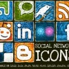 Social Network Icons con effetto pittura