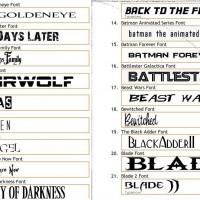 304 font ispirati a Film, videogames e gruppi musicali