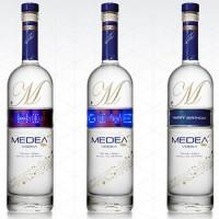 Vodka Medea: etichetta programmabile a LED Blu