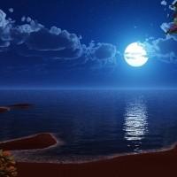 Wallpaper di paesaggi al chiaro di luna gratis per voi