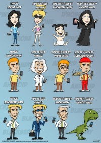iPhone vs. Android vs. BlackBerry Users (Infografica)